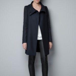 Zara Studded sleeve coat